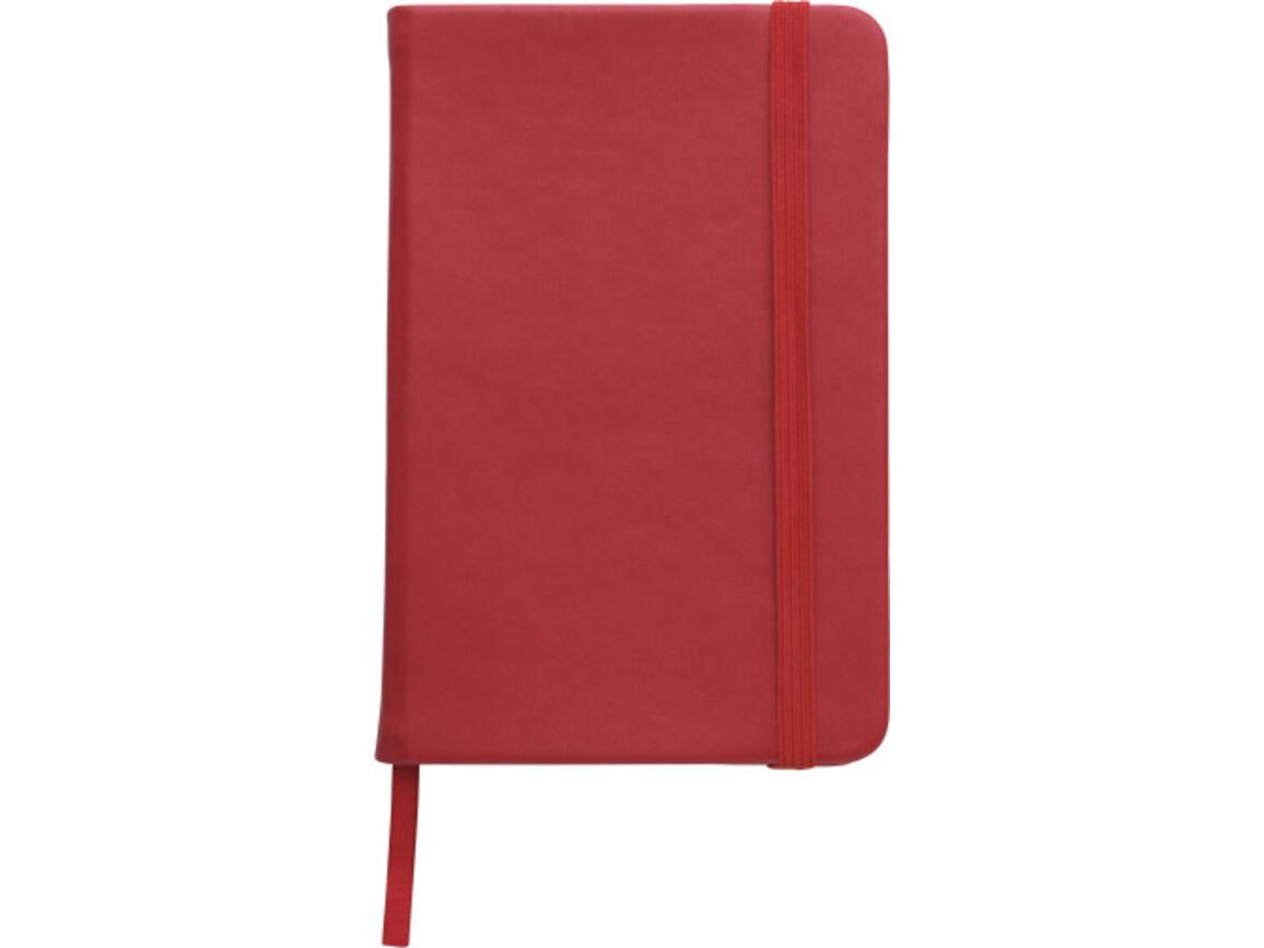 Notizbuch 'Pocket' aus PU – Rot bedrucken, Art.-Nr. 008999999_2889