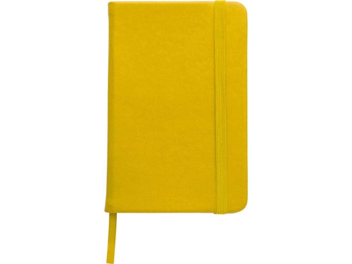 Notizbuch 'Pocket' aus PU – Gelb bedrucken, Art.-Nr. 006999999_2889