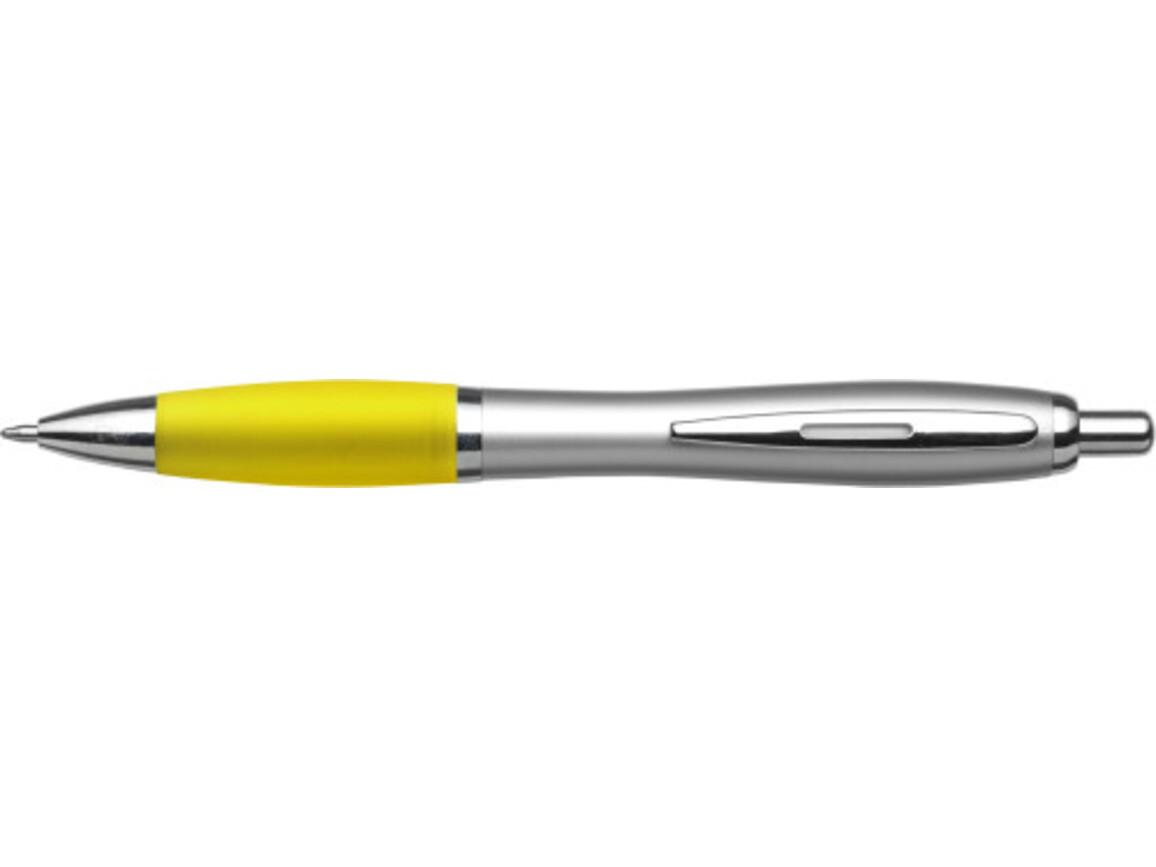 Kugelschreiber 'Cardiff' aus Kunststoff – Gelb bedrucken, Art.-Nr. 006999999_3011