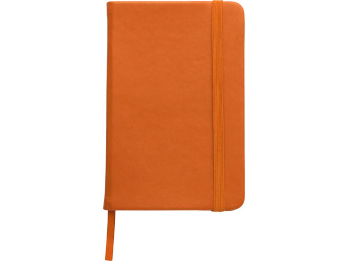 Notizbuch 'Color-Line' A5 aus PU – Orange bedrucken, Art.-Nr. 007999999_3076