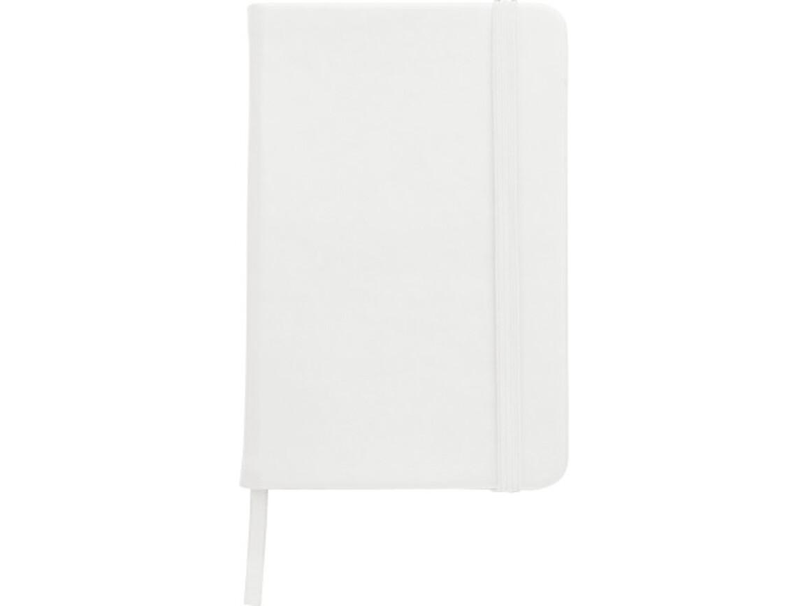 Notizbuch 'Color-Line' A5 aus PU – Weiß bedrucken, Art.-Nr. 002999999_3076
