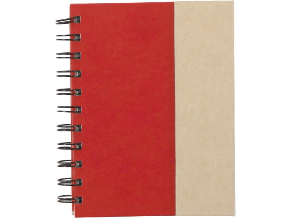 Notizbuch 'Remember' aus Karton – Rot bedrucken, Art.-Nr. 008999999_3099