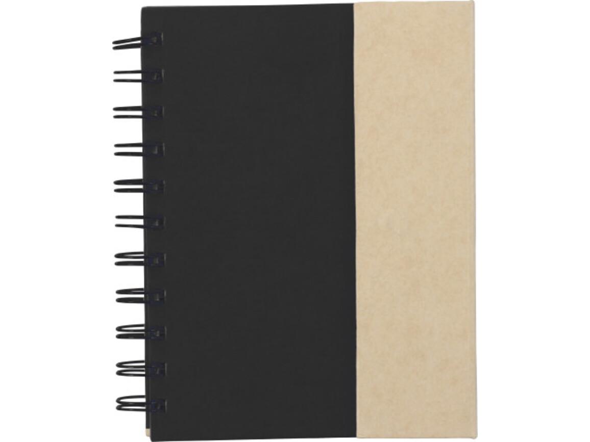 Notizbuch 'Remember' aus Karton – Schwarz bedrucken, Art.-Nr. 001999999_3099
