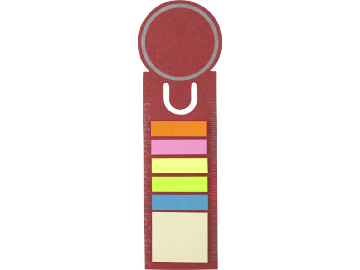 Lesezeichen 'Big Ben' aus Pappe – Rot bedrucken, Art.-Nr. 008999999_3115