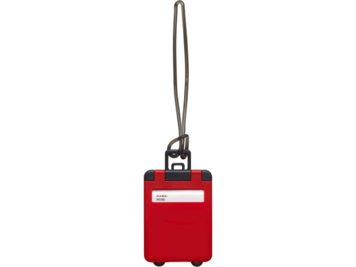 Kofferanhänger 'Gate' aus Kunststoff – Rot bedrucken, Art.-Nr. 008999999_3167
