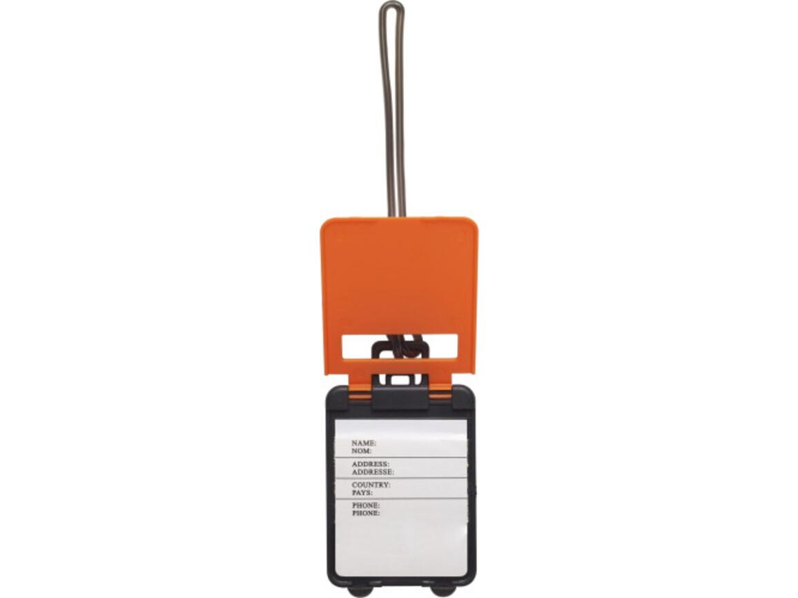 Kofferanhänger 'Gate' aus Kunststoff – Orange bedrucken, Art.-Nr. 007999999_3167