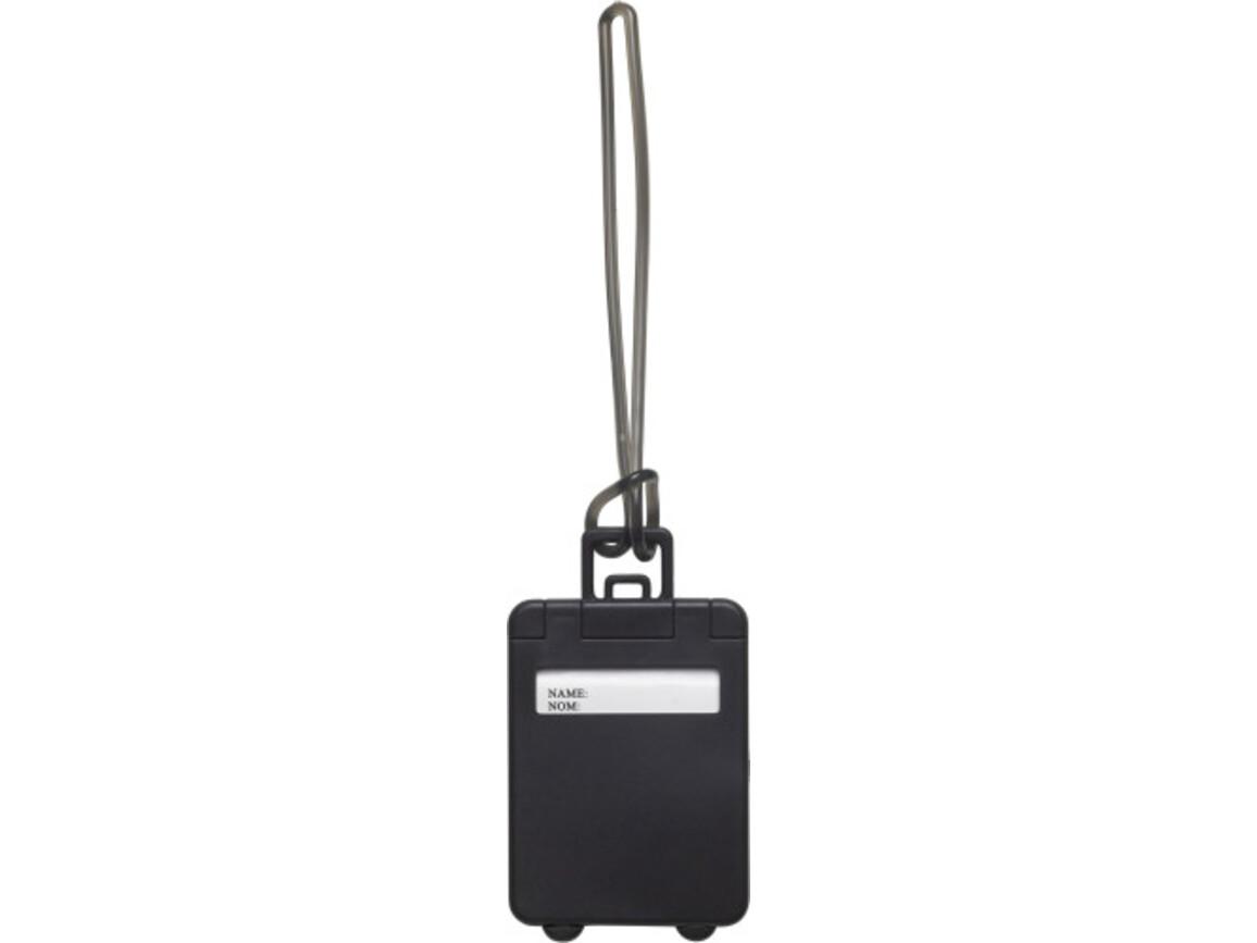 Kofferanhänger 'Gate' aus Kunststoff – Schwarz bedrucken, Art.-Nr. 001999999_3167