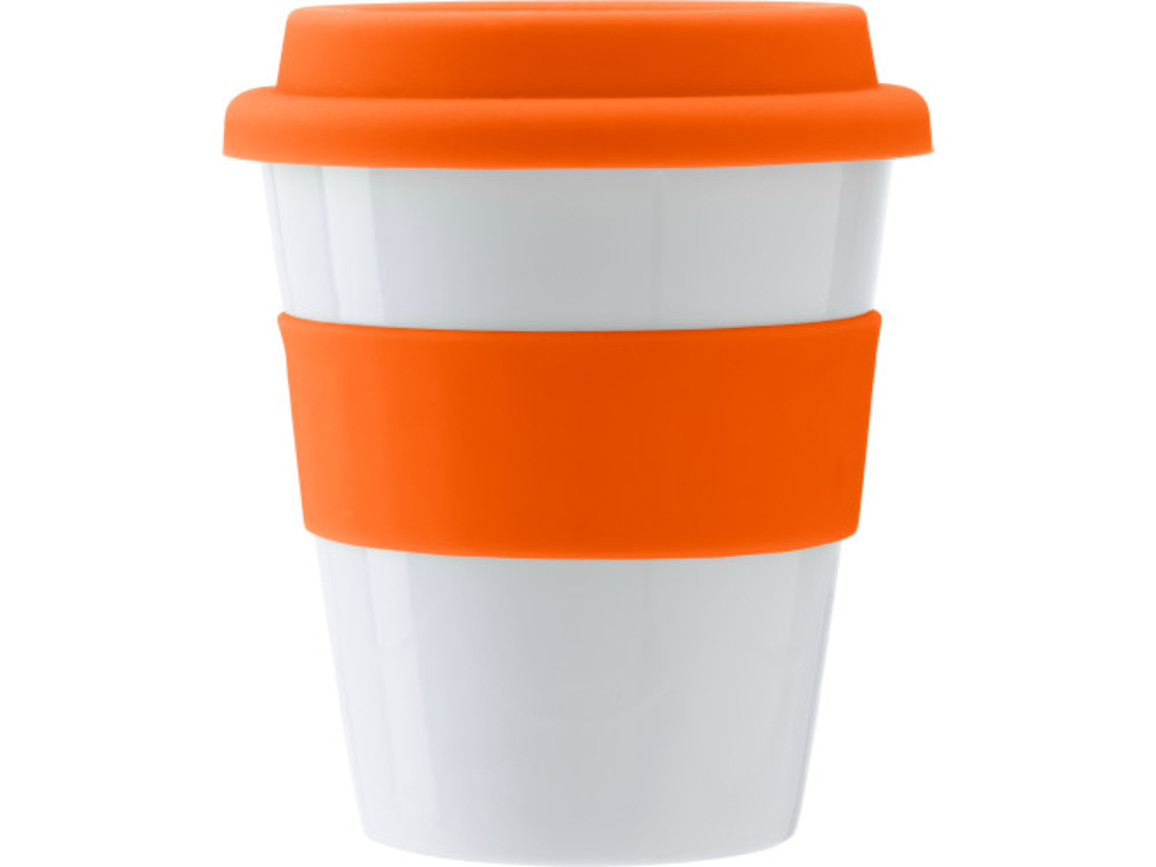 Trinkbecher 'Soft' aus Kunststoff – Orange bedrucken, Art.-Nr. 007999999_3203