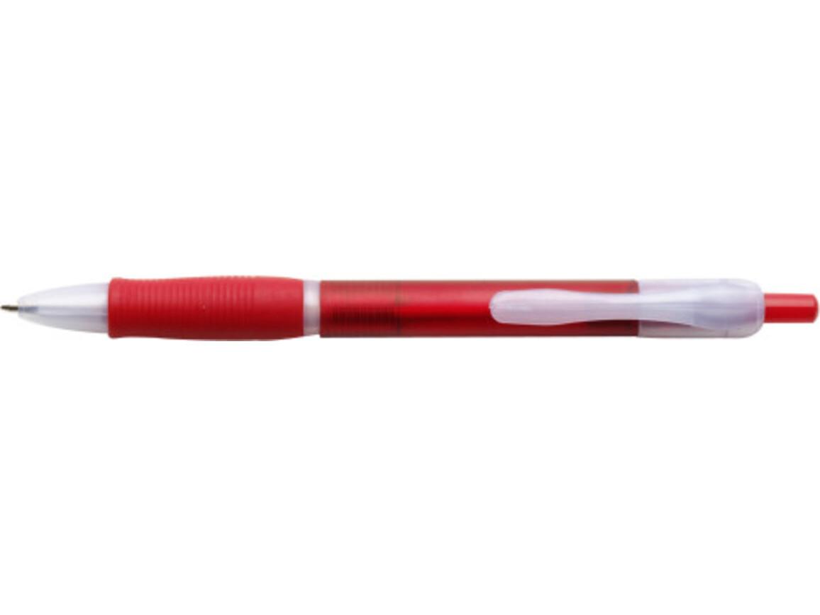 Kugelschreiber 'Max' aus Kunststoff – Rot bedrucken, Art.-Nr. 008999999_3398