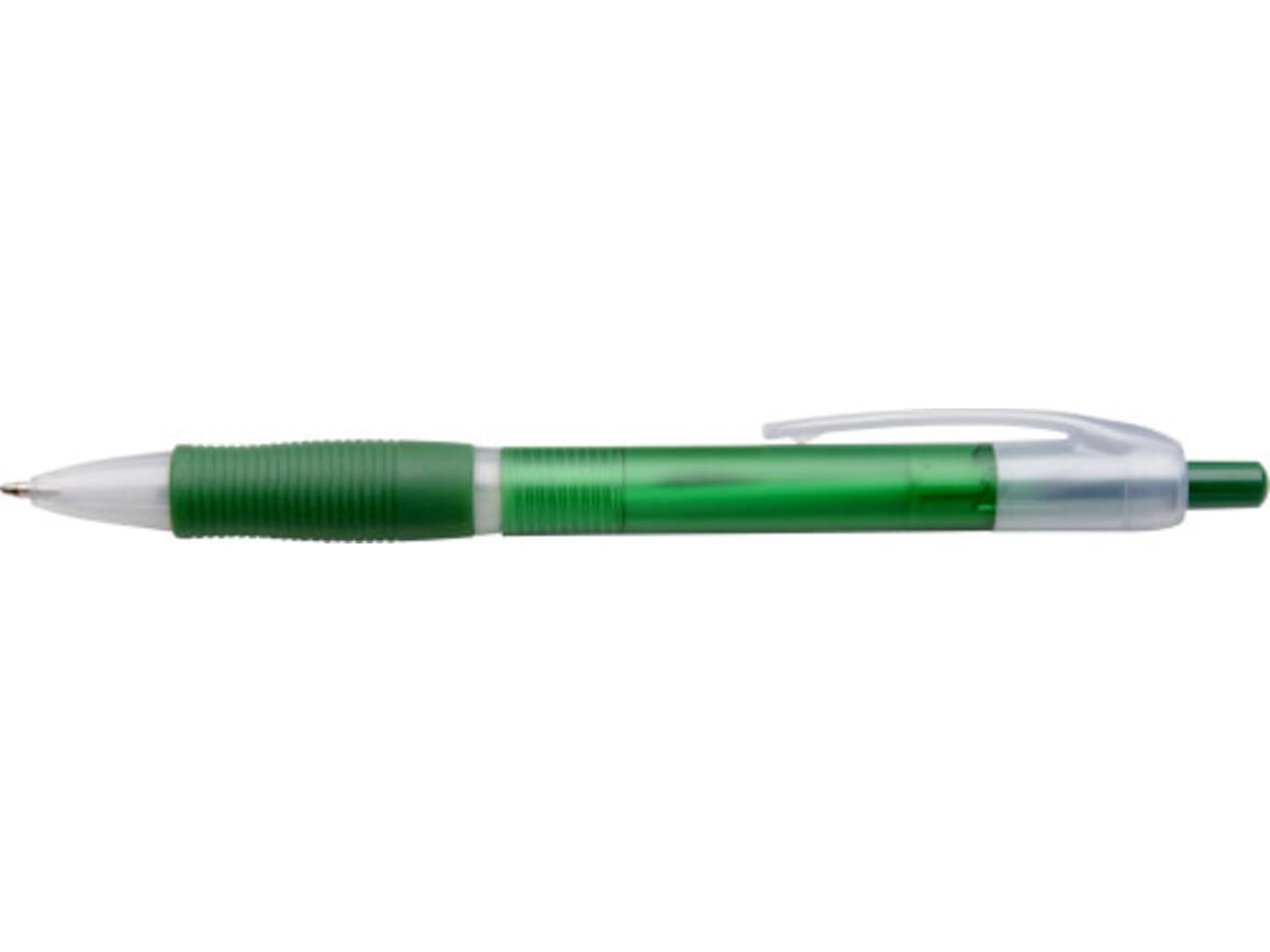 Kugelschreiber 'Max' aus Kunststoff – Grün bedrucken, Art.-Nr. 004999999_3398