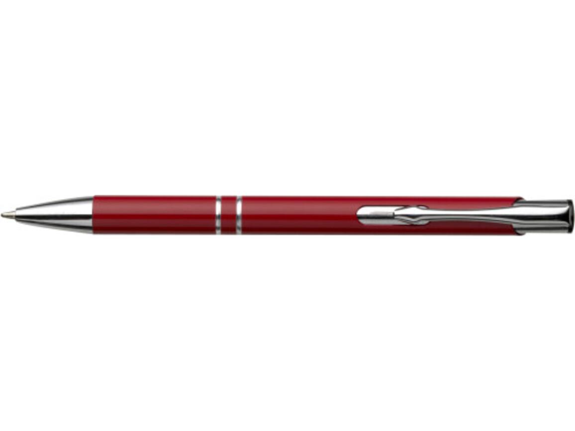 Kugelschreiber 'Albacete' aus Aluminium – Rot bedrucken, Art.-Nr. 008999999_3444