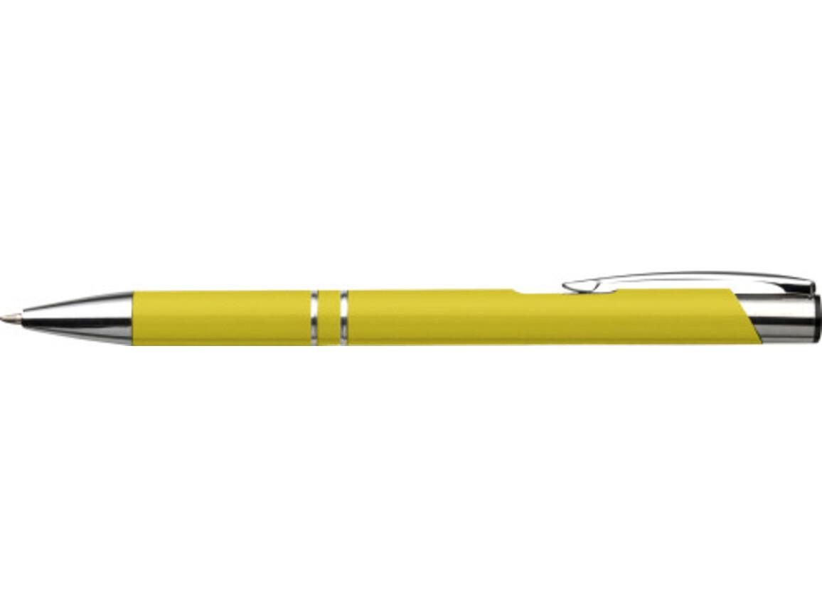Kugelschreiber 'Albacete' aus Aluminium – Gelb bedrucken, Art.-Nr. 006999999_3444