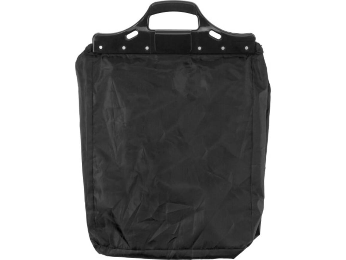 Einkaufswagentasche 'Maxi' aus Polyester – Schwarz bedrucken, Art.-Nr. 001999999_3575