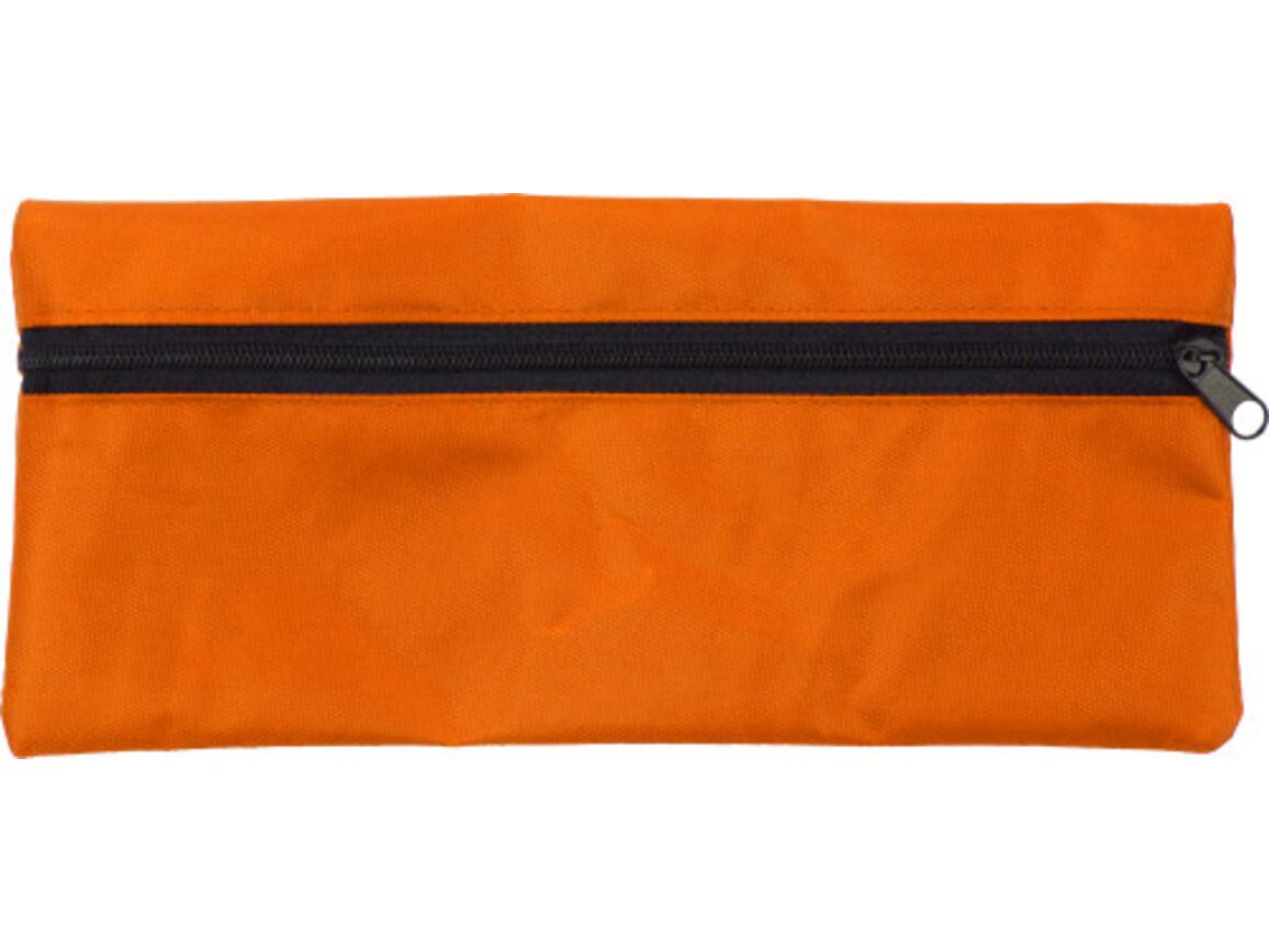 Stifte-Etui 'Jordi' aus Polyester – Orange bedrucken, Art.-Nr. 007999999_3598