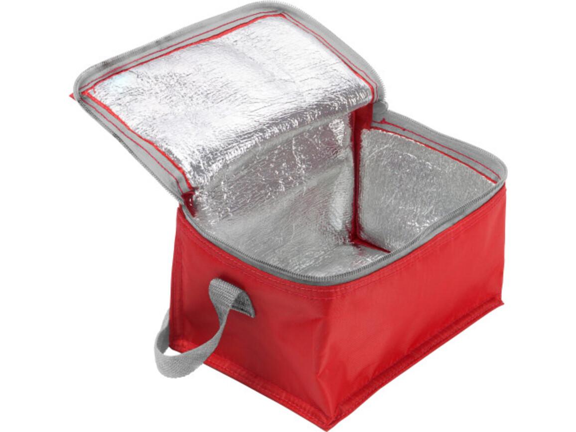Kühltasche 'Ischgll' aus Polyester – Rot bedrucken, Art.-Nr. 008999999_3604
