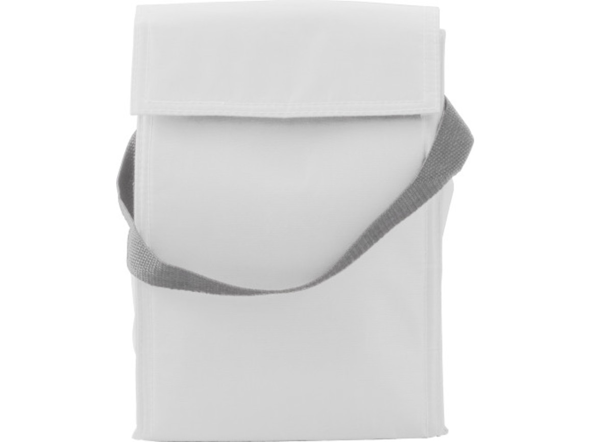 Kühltasche 'Breakfast' aus Polyester – Weiß bedrucken, Art.-Nr. 002999999_3609