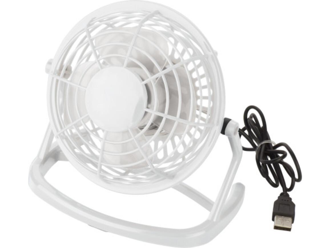 USB-Ventilator 'Hurricane' aus Kunststoff – Weiß bedrucken, Art.-Nr. 002999999_3639