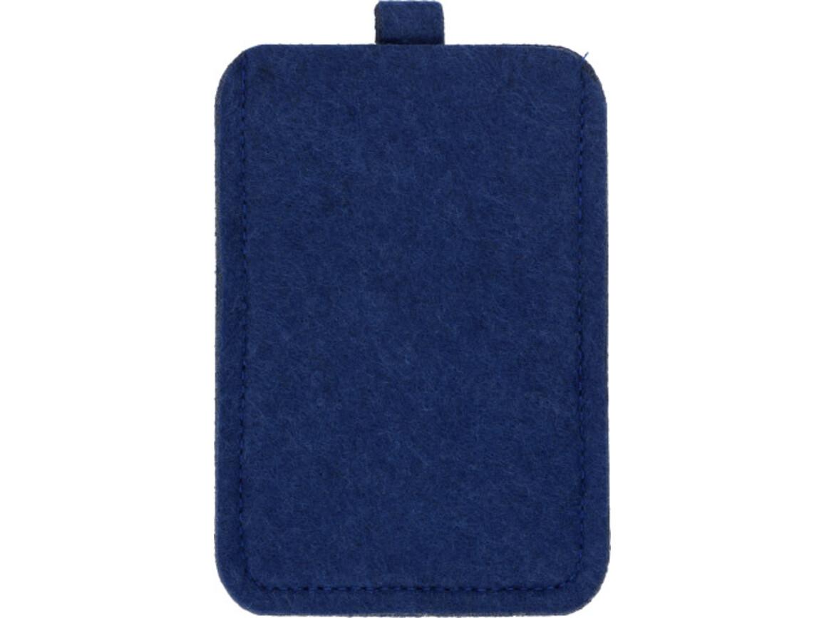 Handyhalter 'ColorLine' aus Filz – Blau bedrucken, Art.-Nr. 005999999_3760