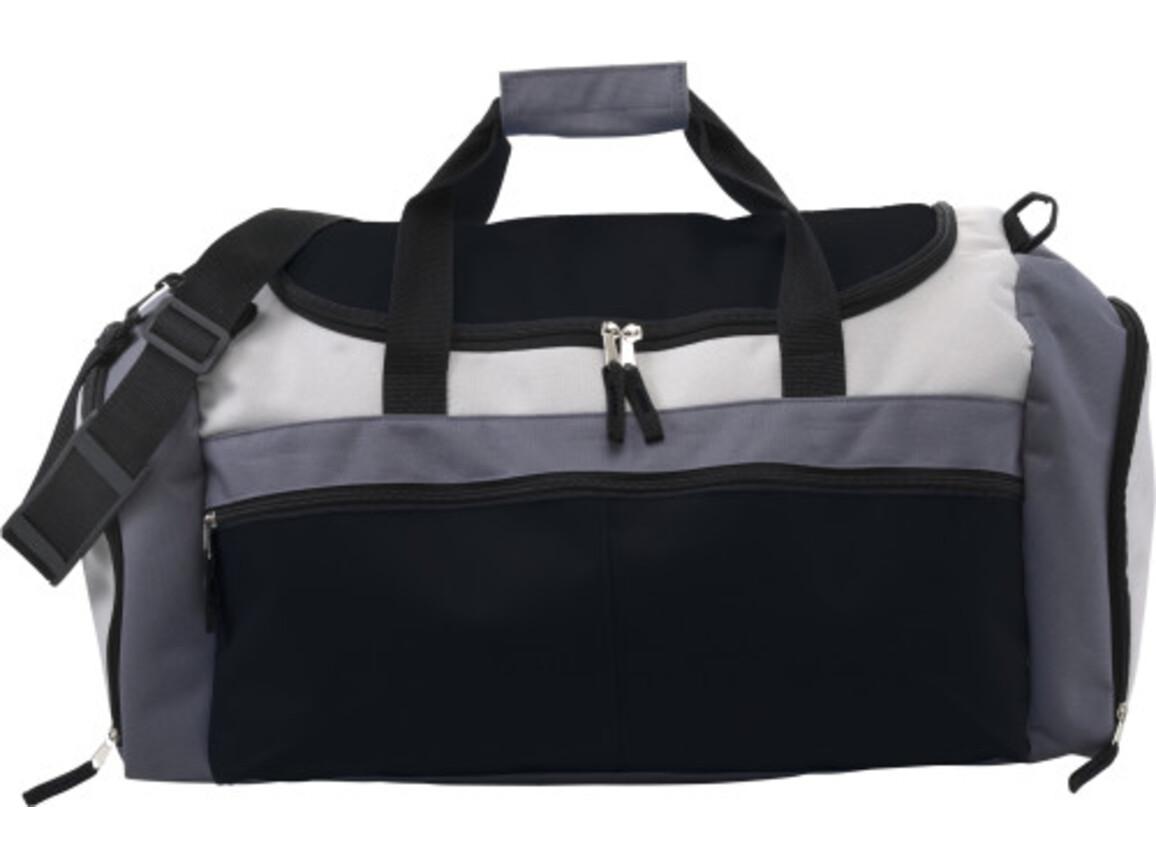 Sporttasche 'Training' aus Polyester – Schwarz bedrucken, Art.-Nr. 001999999_3854