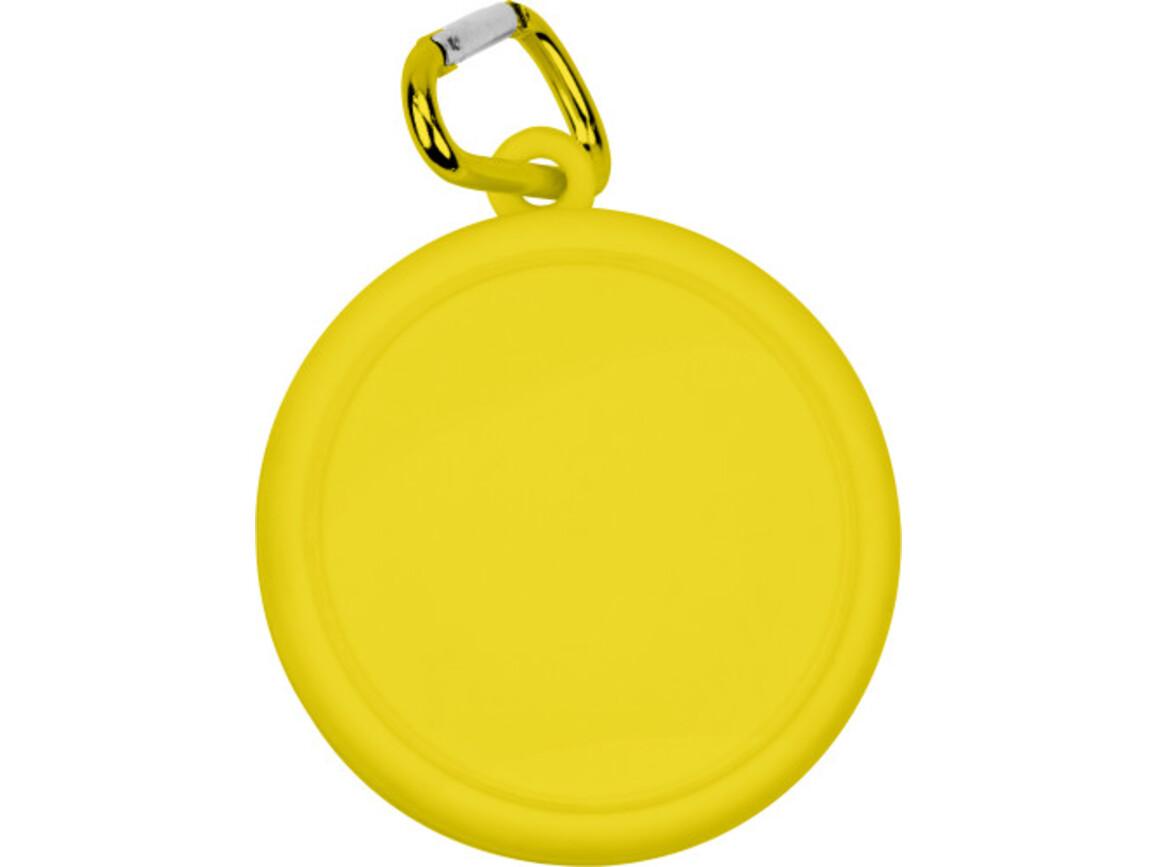 Trinkbecher 'Travel' aus Kunststoff – Gelb bedrucken, Art.-Nr. 006999999_3878