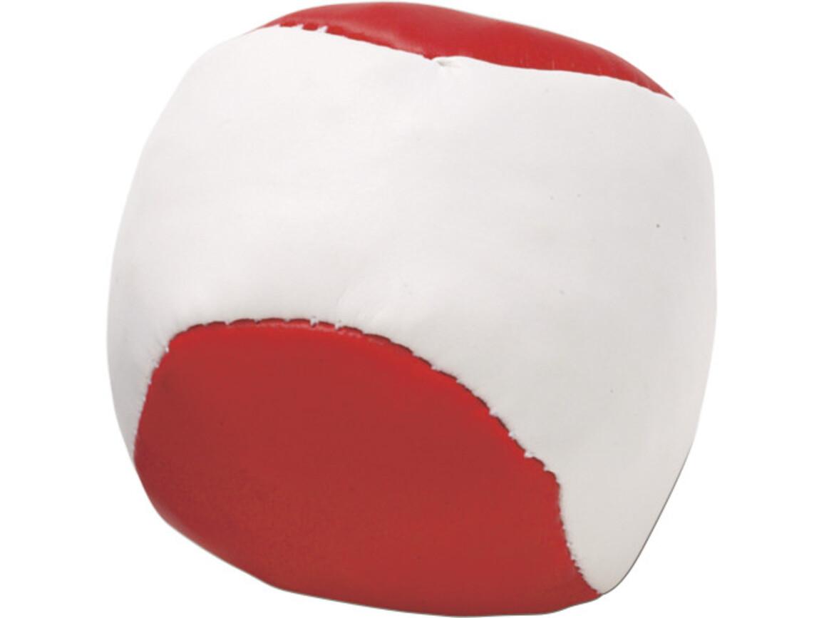 Jonglierball 'Single' aus Kunstleder – Rot bedrucken, Art.-Nr. 008999999_3956