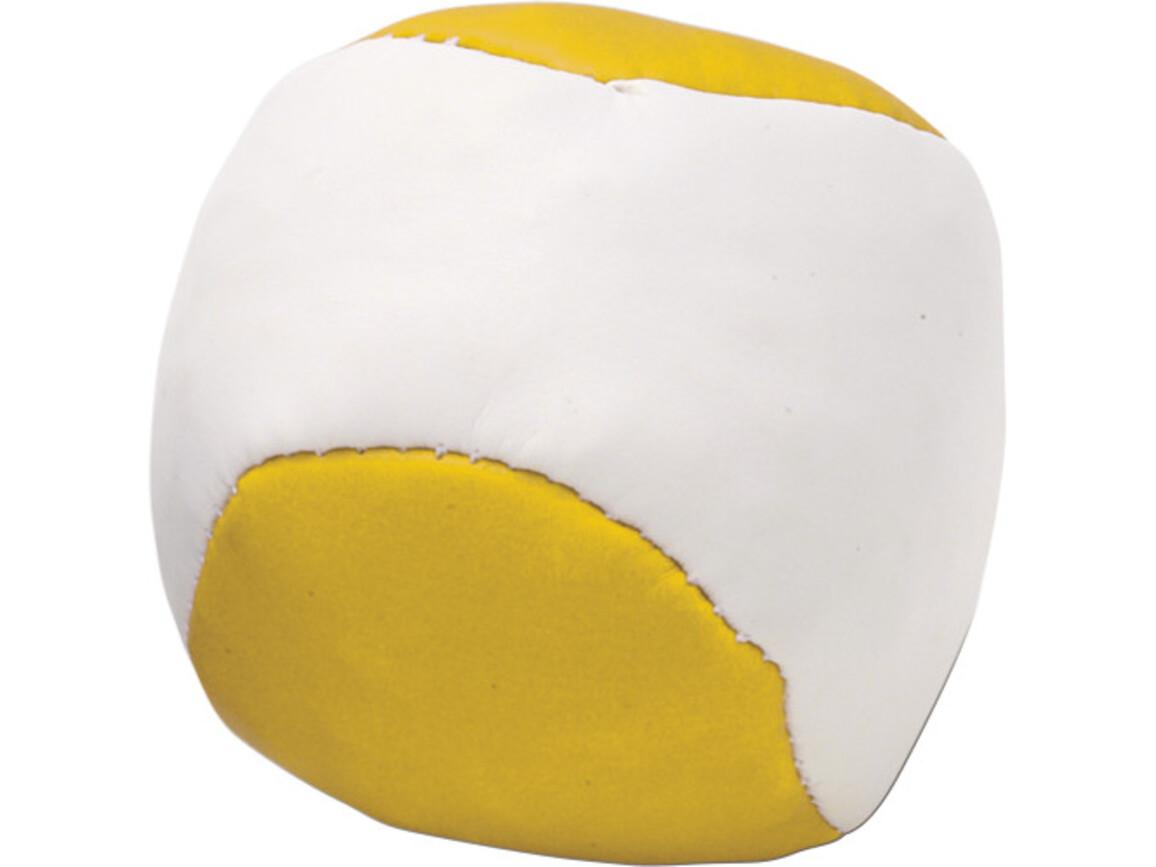 Jonglierball 'Single' aus Kunstleder – Gelb bedrucken, Art.-Nr. 006999999_3956