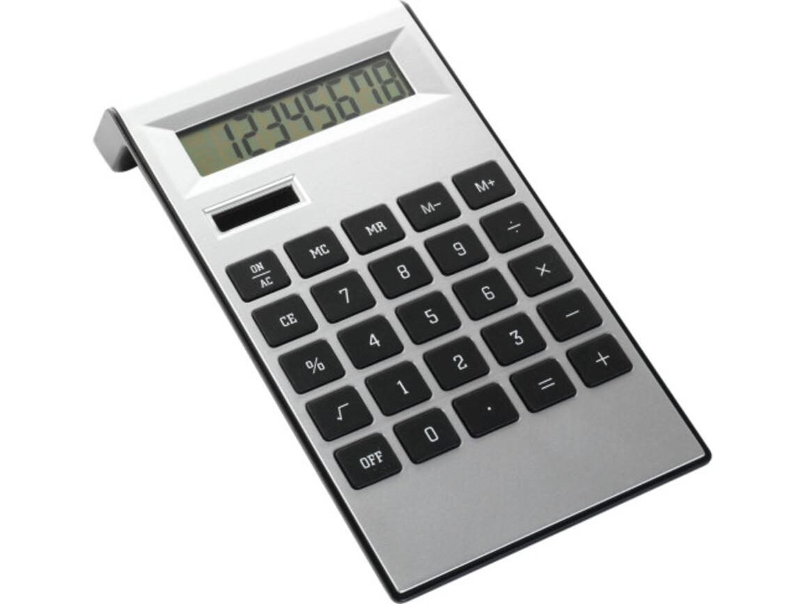 Tischrechner 'Highline' aus ABS-Kunststoff – Schwarz/Silber bedrucken, Art.-Nr. 050999999_4050