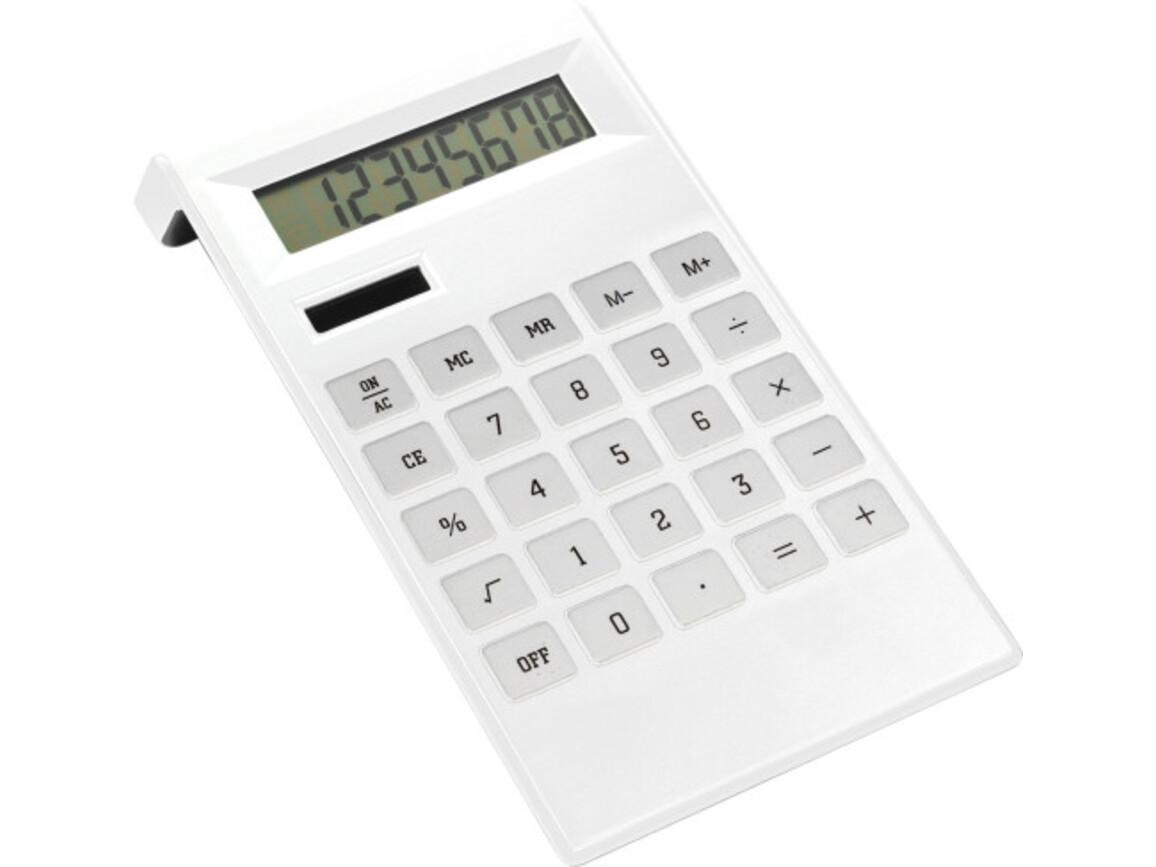 Tischrechner 'Highline' aus ABS-Kunststoff – Weiß bedrucken, Art.-Nr. 002999999_4050