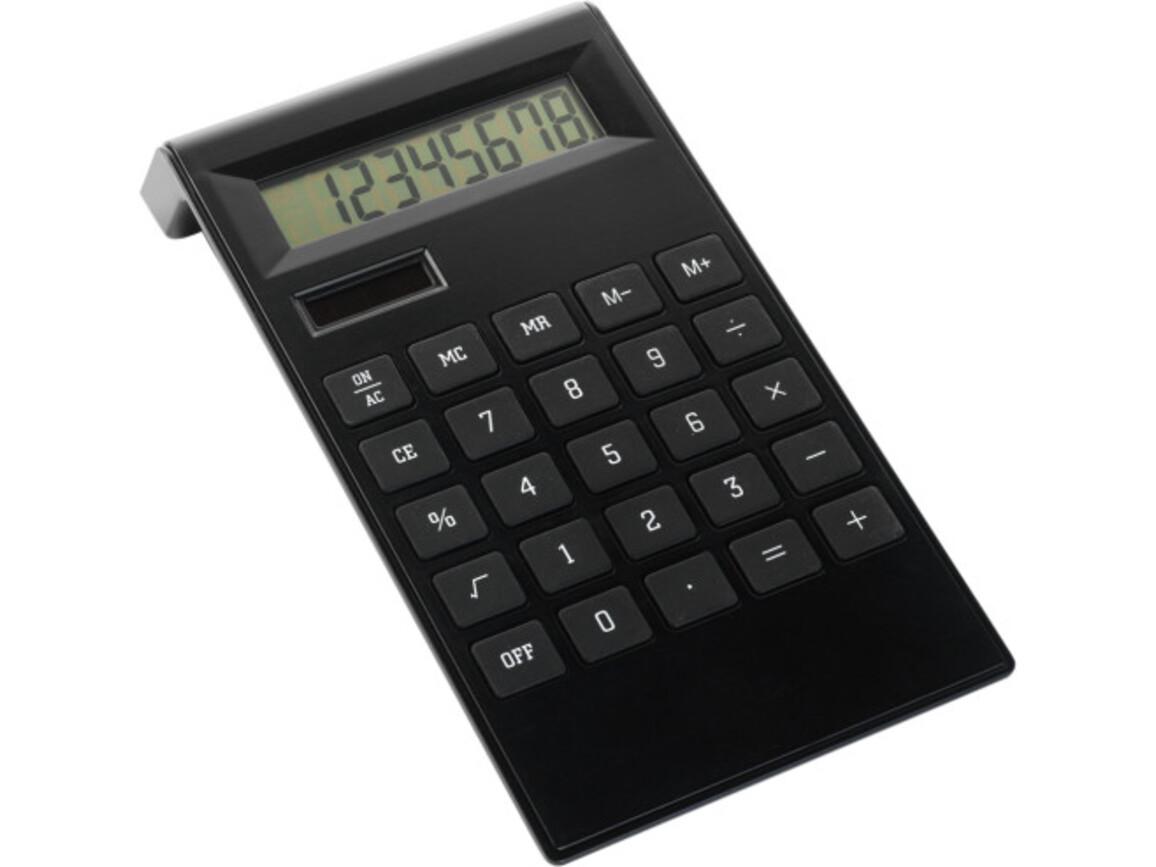 Tischrechner 'Highline' aus ABS-Kunststoff – Schwarz bedrucken, Art.-Nr. 001999999_4050
