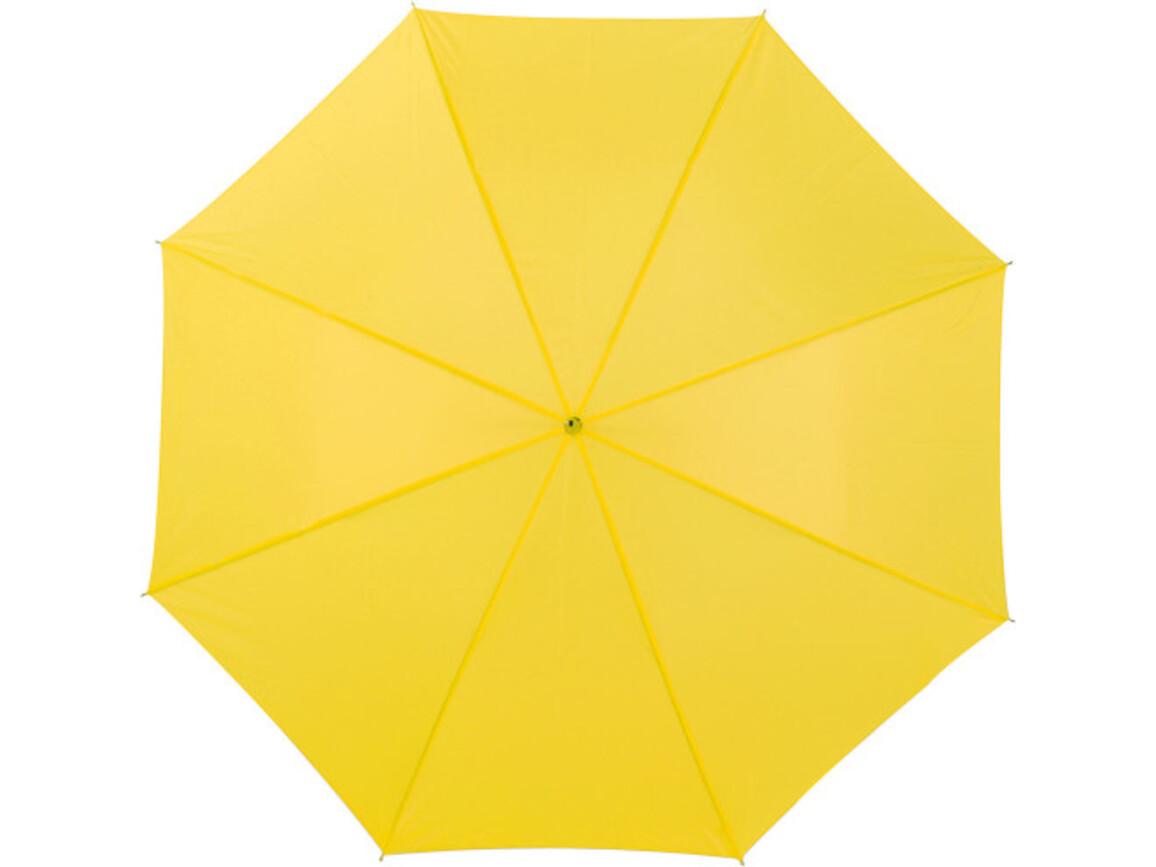 Automatik Stockschirm 'Charlie' aus Polyester – Gelb bedrucken, Art.-Nr. 006999999_4064