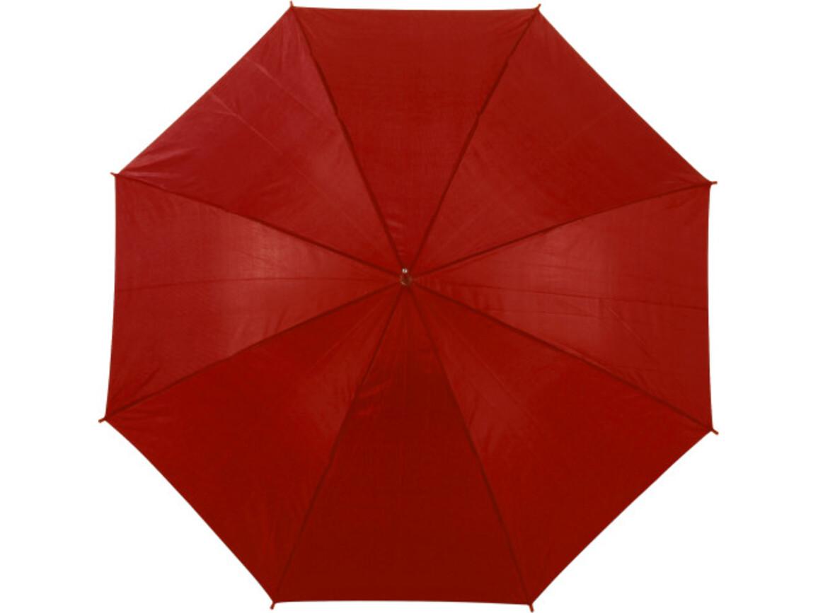 Portierschirm 'Harry' aus Polyester – Rot bedrucken, Art.-Nr. 008999999_4066