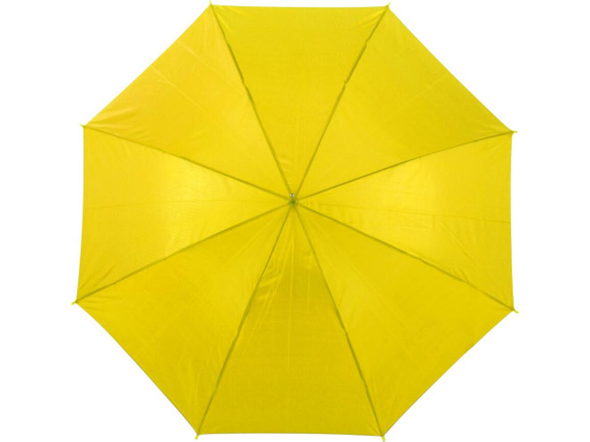 Automatik Stockschirm 'Joseph' aus Polyester – Gelb bedrucken, Art.-Nr. 006999999_4088