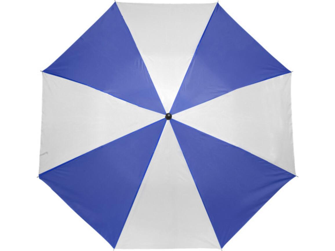 Taschenschirm 'Classic' aus Polyester – Blau/Weiß bedrucken, Art.-Nr. 045999999_4092