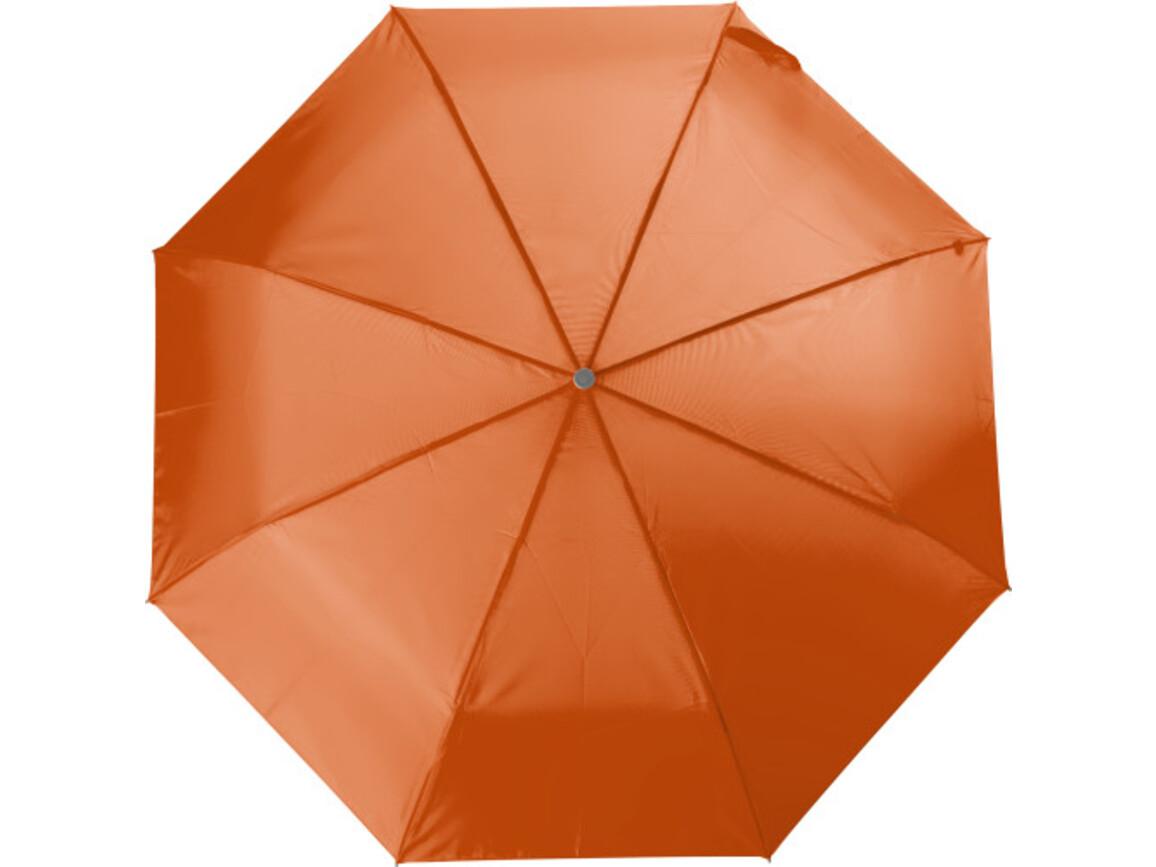 Aluminium Taschenschirm aus Polyester – Orange bedrucken, Art.-Nr. 007999999_4104