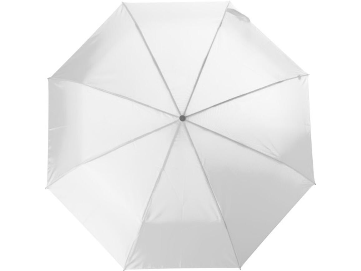 Aluminium Taschenschirm aus Polyester – Weiß bedrucken, Art.-Nr. 002999999_4104