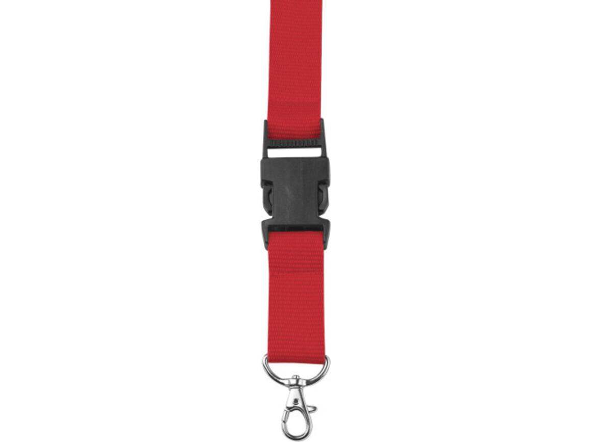 Lanyard 'Slam' aus Polyester – Rot bedrucken, Art.-Nr. 008999999_4161
