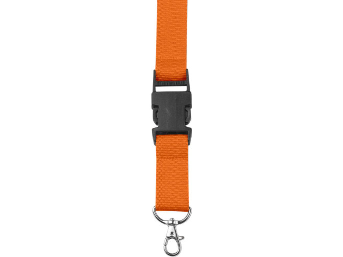 Lanyard 'Slam' aus Polyester – Orange bedrucken, Art.-Nr. 007999999_4161