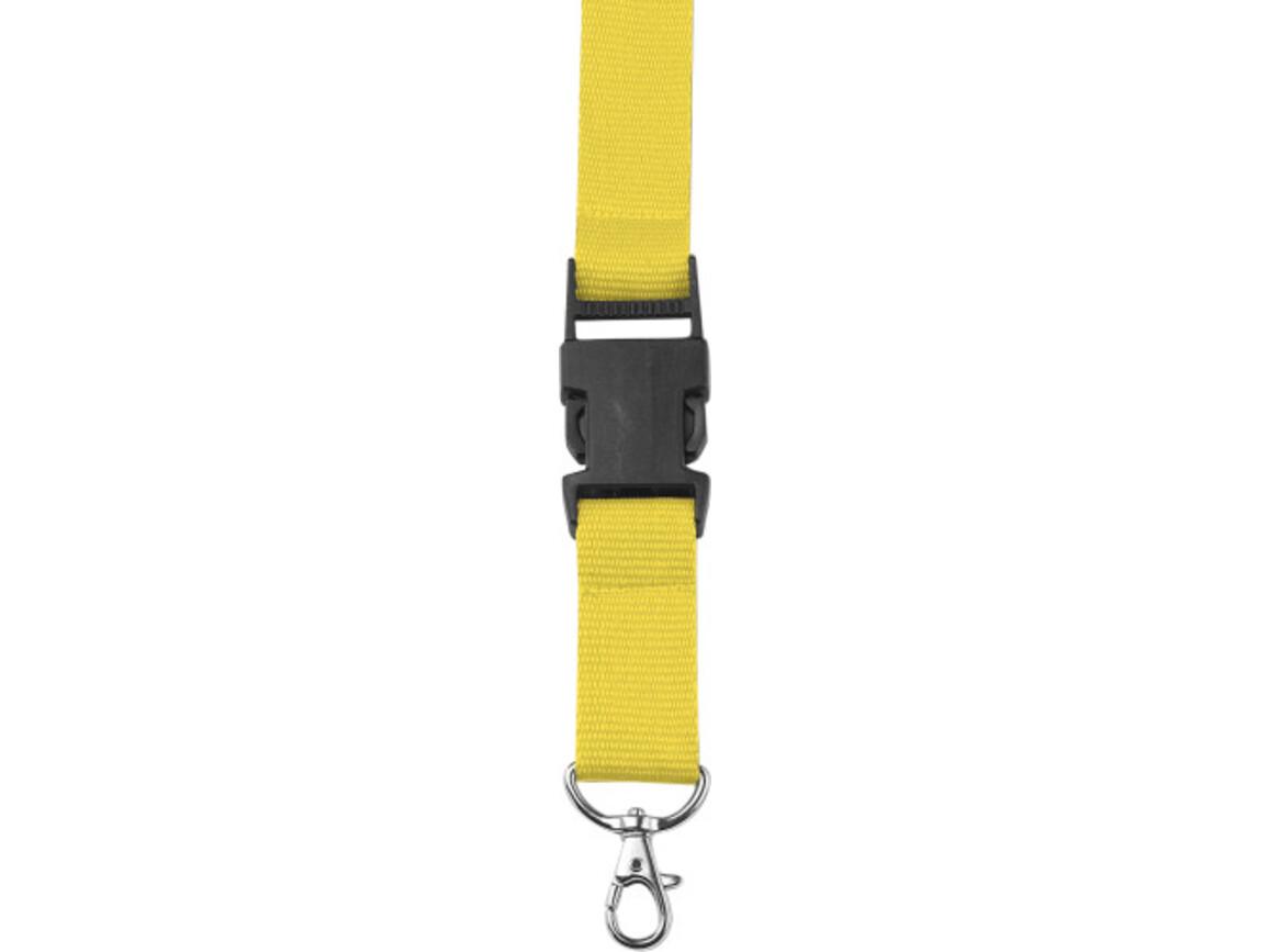 Lanyard 'Slam' aus Polyester – Gelb bedrucken, Art.-Nr. 006999999_4161