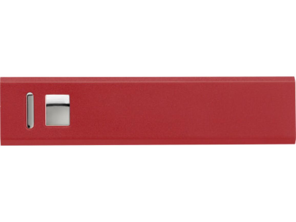Powerbank 'Kraftwerk' aus Aluminium – Rot bedrucken, Art.-Nr. 008999999_4199