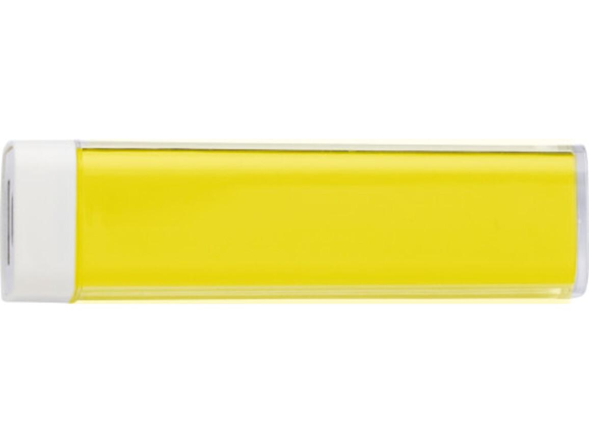 Powerbank 'Slimline' aus ABS-Kunststoff – Gelb bedrucken, Art.-Nr. 006999999_4200