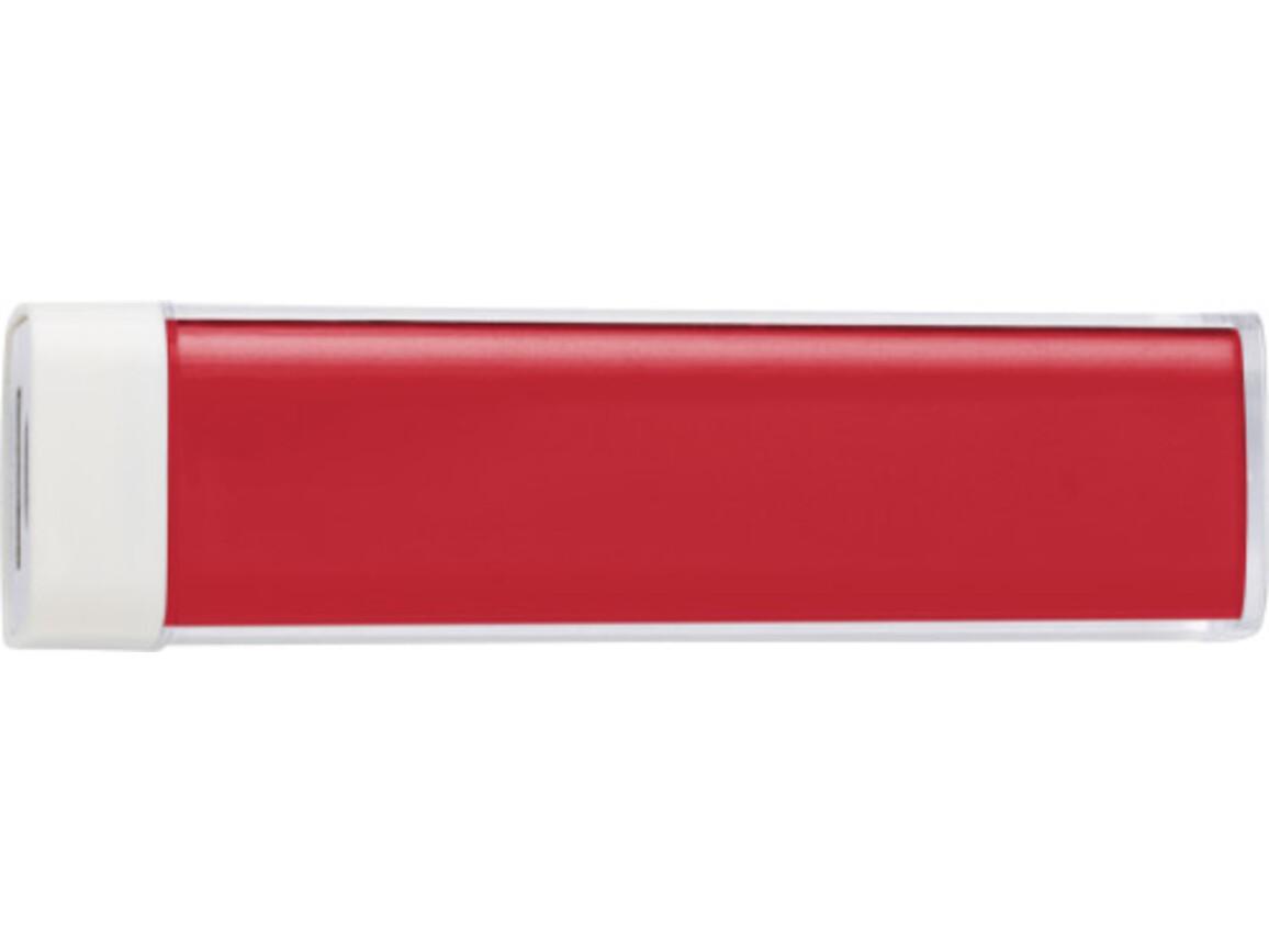 Powerbank 'Slimline' aus ABS-Kunststoff – Rot bedrucken, Art.-Nr. 008999999_4200