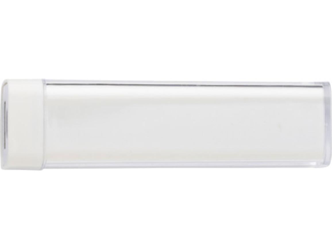 Powerbank 'Slimline' aus ABS-Kunststoff – Weiß bedrucken, Art.-Nr. 002999999_4200