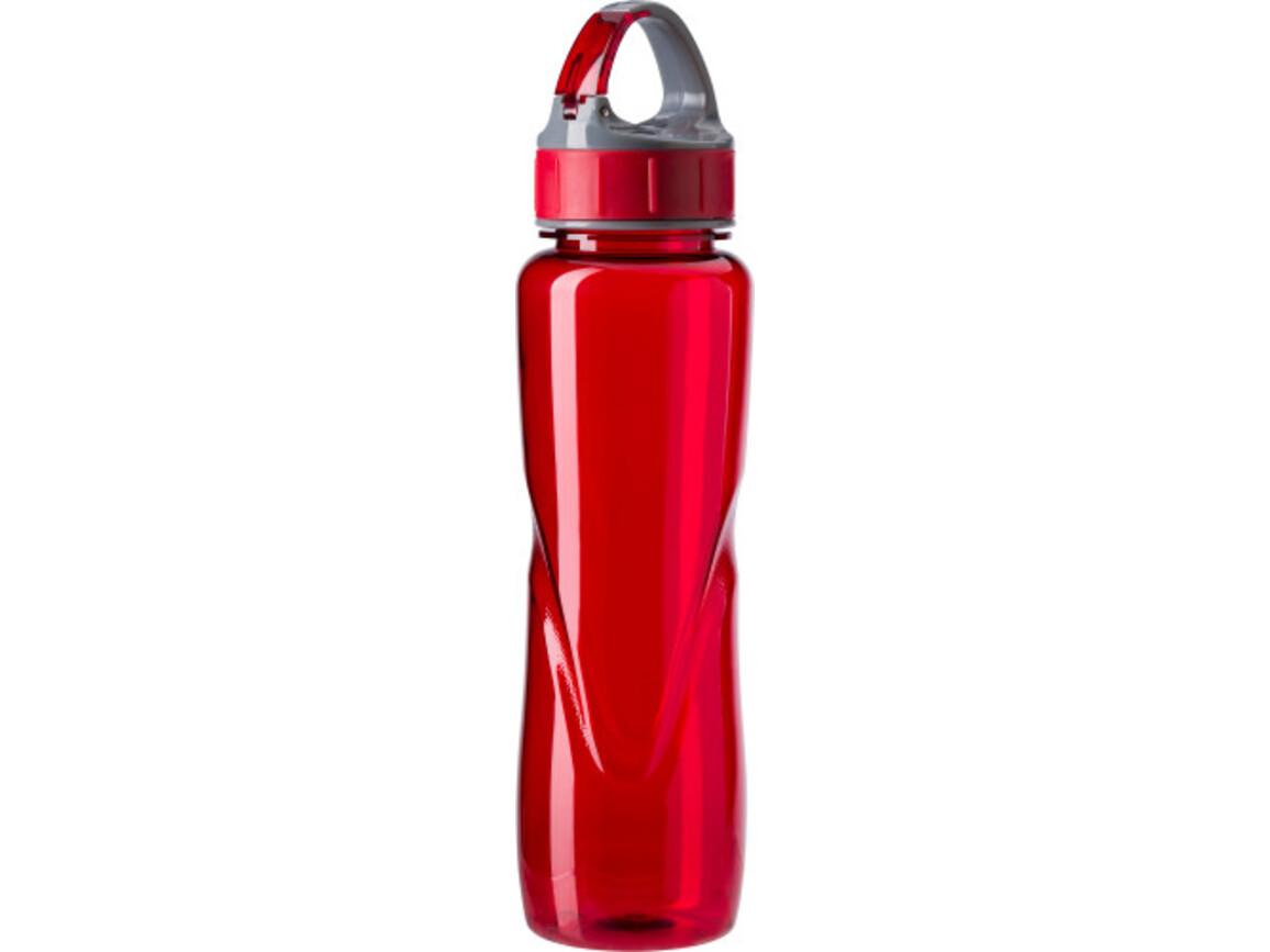 Trinkflasche ''Dynamik' aus Kunststoff – Rot bedrucken, Art.-Nr. 008999999_4293