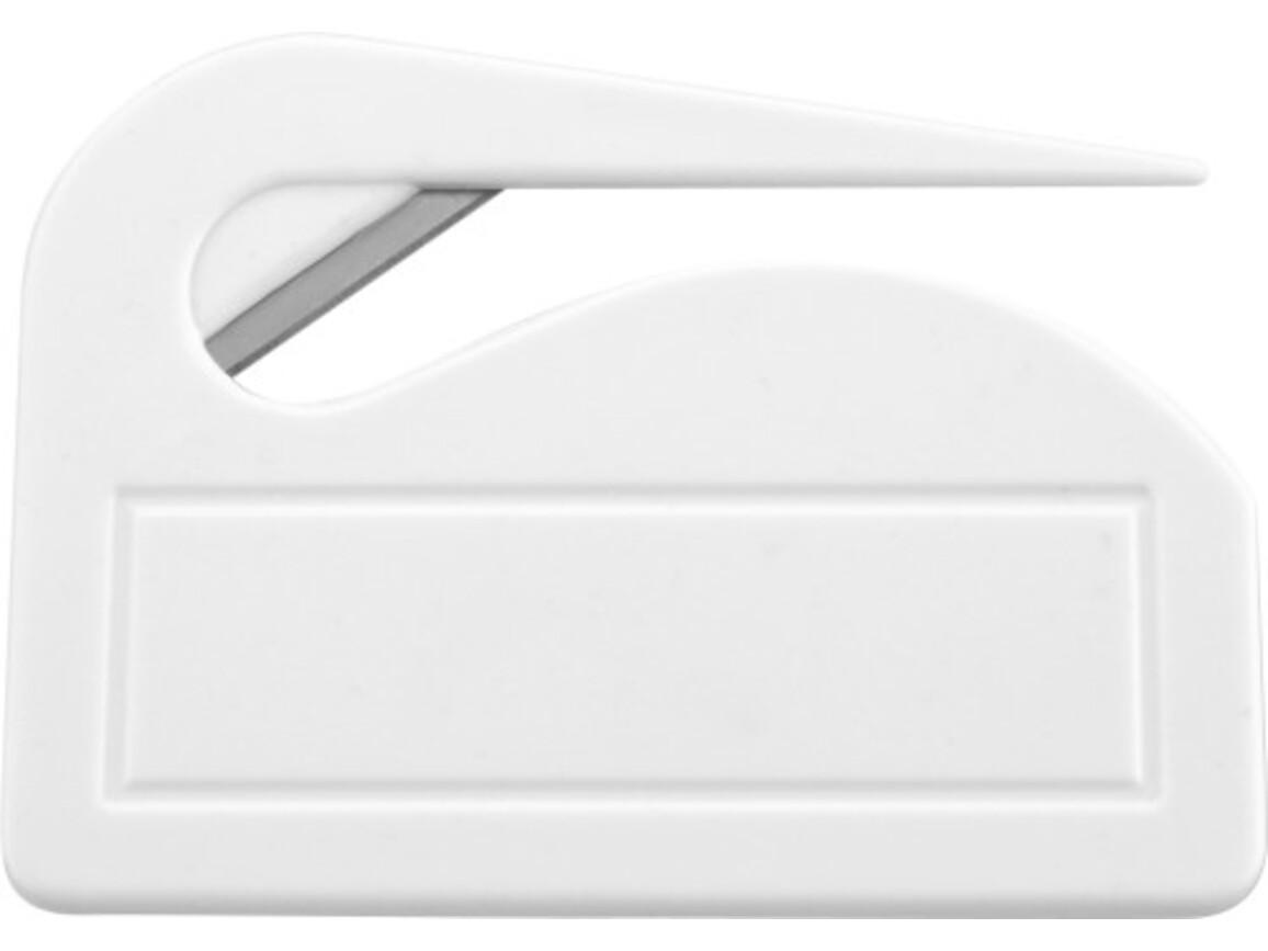 Brieföffner 'Pocket' aus Kunststoff – Weiß bedrucken, Art.-Nr. 002999999_4505