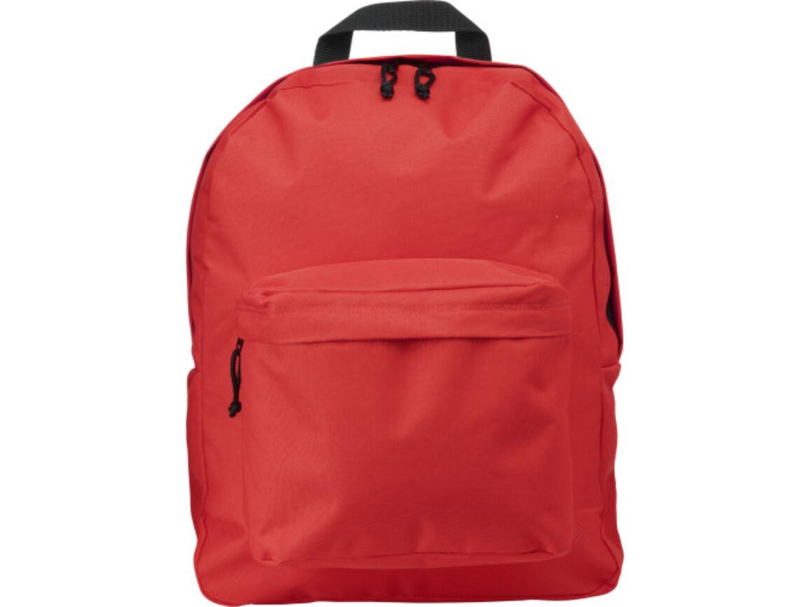Rucksack 'Basic' aus Polyester – Rot bedrucken, Art.-Nr. 008999999_4585