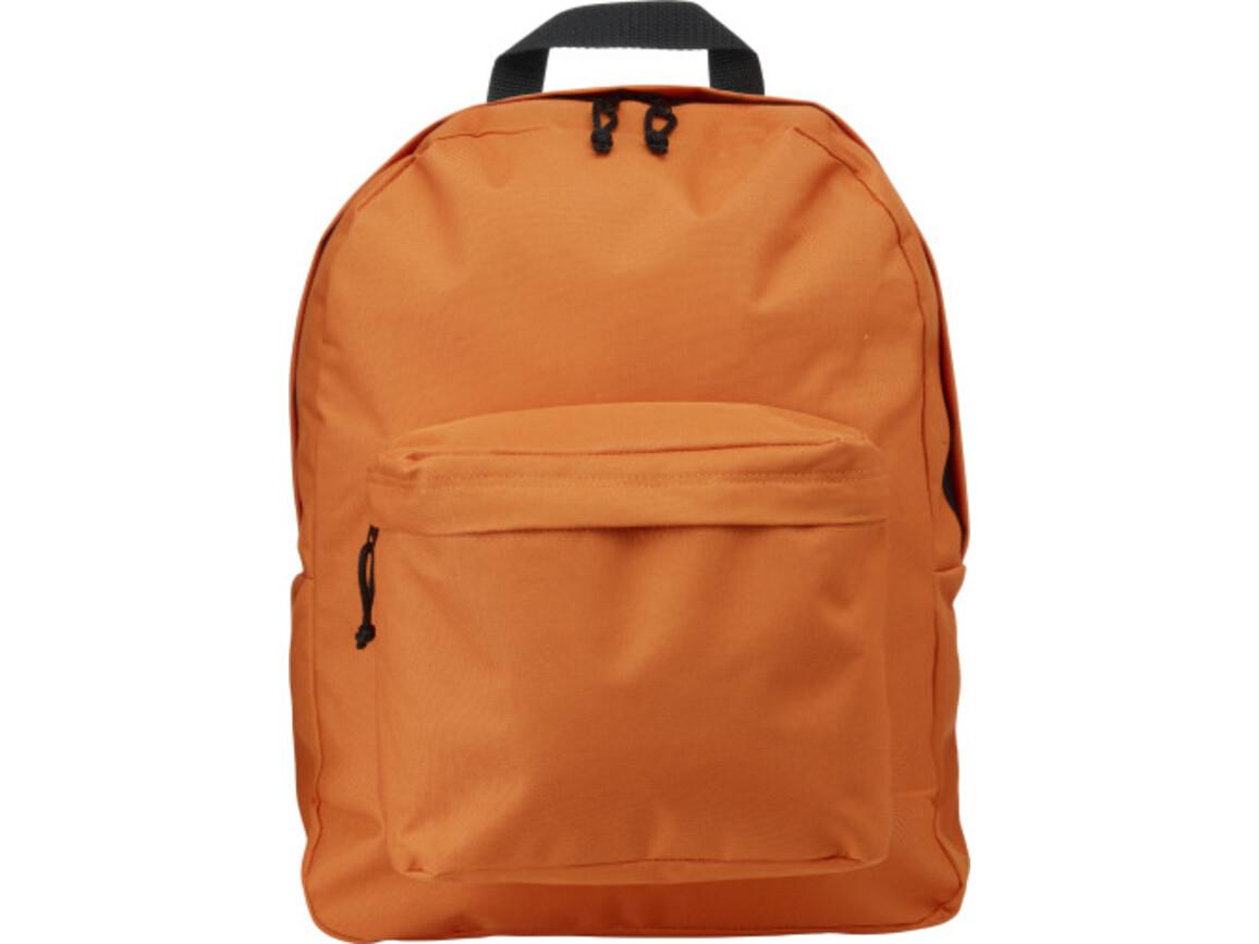 Rucksack 'Basic' aus Polyester – Orange bedrucken, Art.-Nr. 007999999_4585