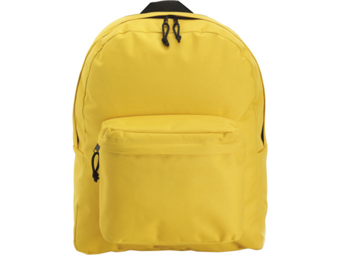 Rucksack 'Basic' aus Polyester – Gelb bedrucken, Art.-Nr. 006999999_4585