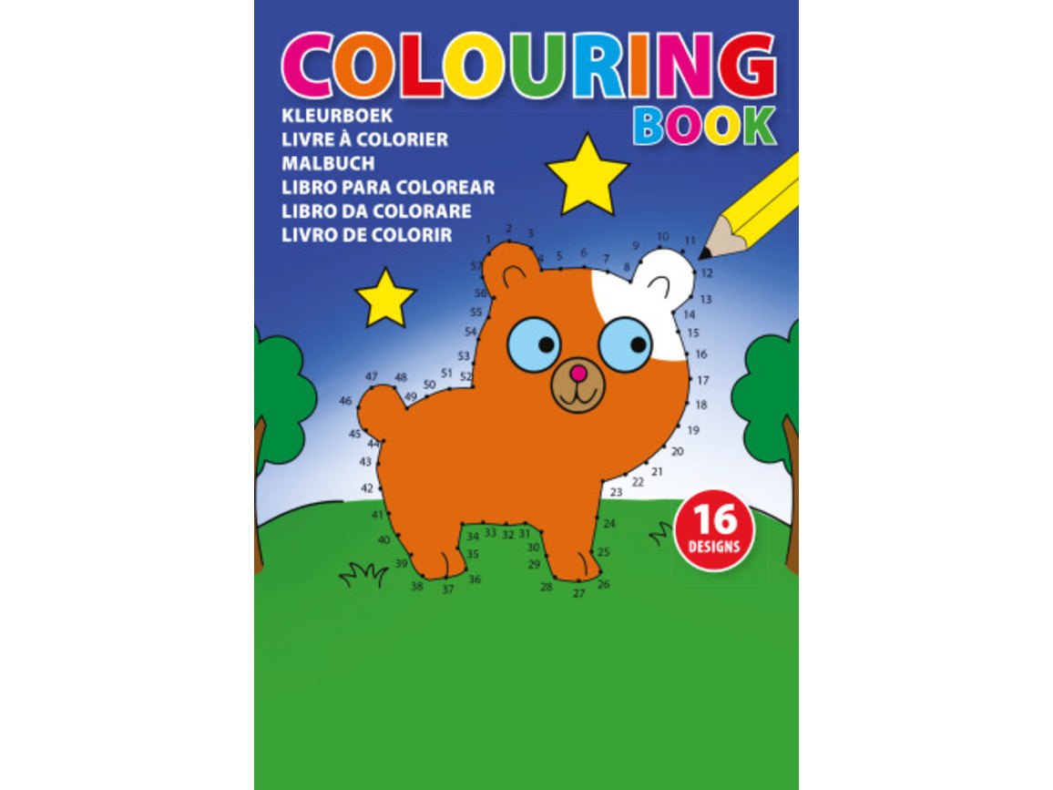 Kinder Malbuch 'Emma' aus Papier – custom/multicolor bedrucken, Art.-Nr. 009999999_4598