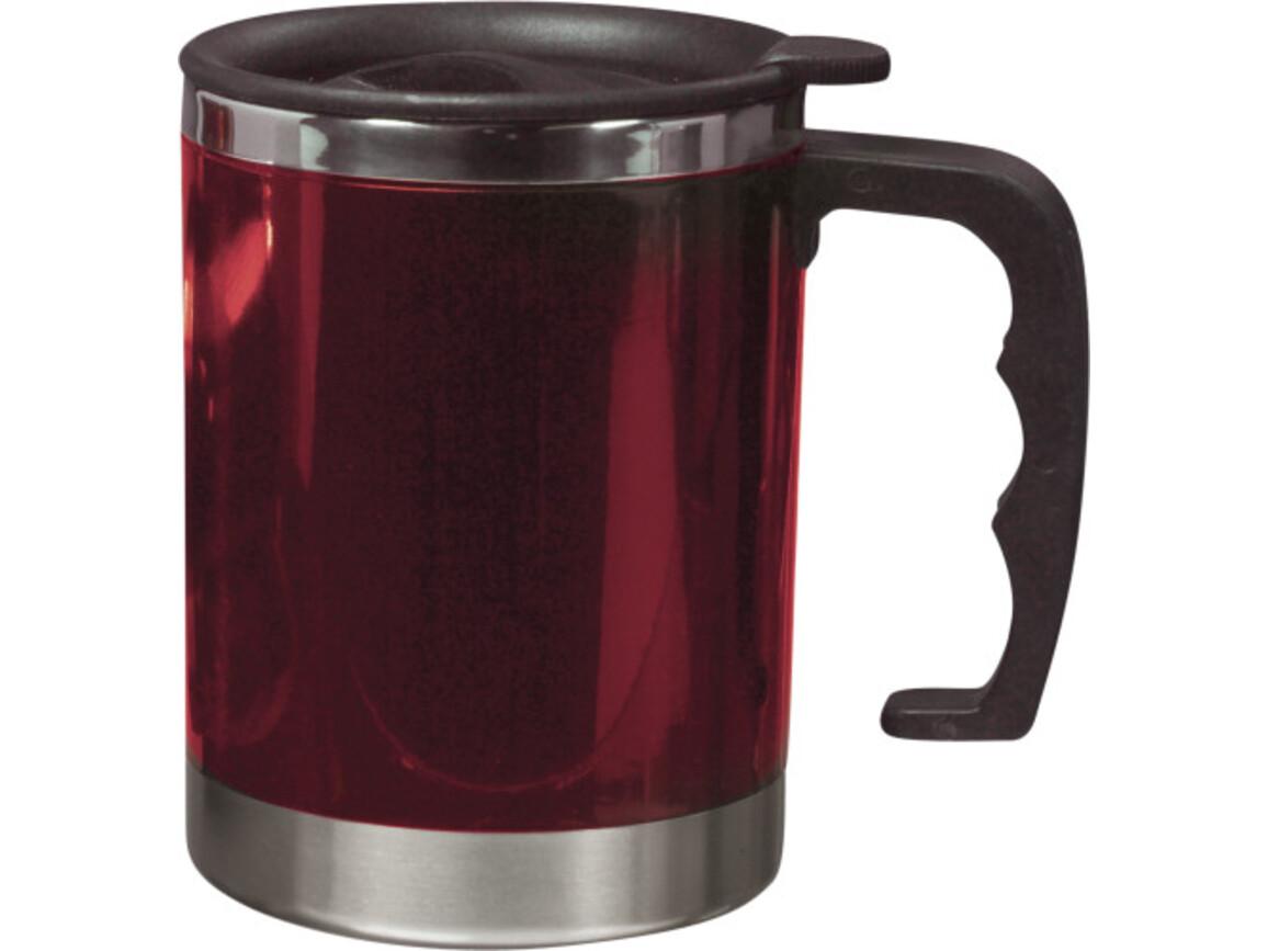 Trinkbecher 'Moskau' mit Deckel aus Kunststoff – Rot bedrucken, Art.-Nr. 008999999_4658