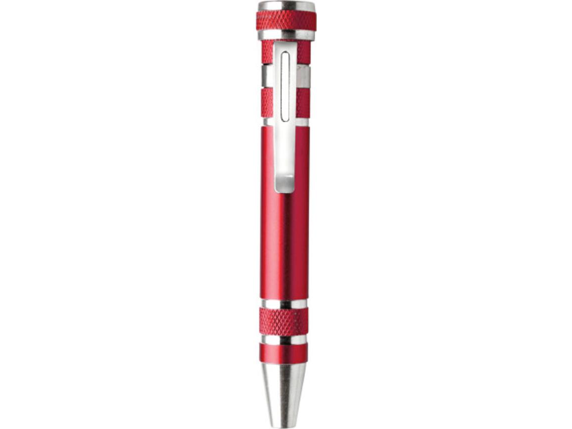 Bit-Set 'Worker' aus Metall – Rot bedrucken, Art.-Nr. 008999999_4853